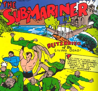 Sub-Mariner aux prises avec les Nazombies...