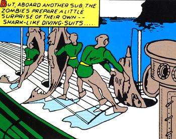 Les costumes de plongée des Nazombies ressemblent à des requins éventrés.