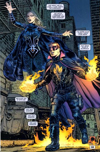 Black Widow à la fin de The Twelve...