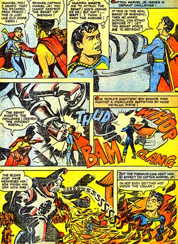 """Captain Marvel Jr. contre la """"Bête de Shenshu"""""""
