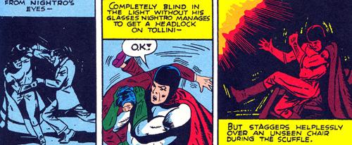 Sans ses lunettes, Nightro n'y voit pas dans le noir...
