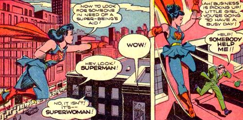 Superwoman en patrouille dans le ciel...