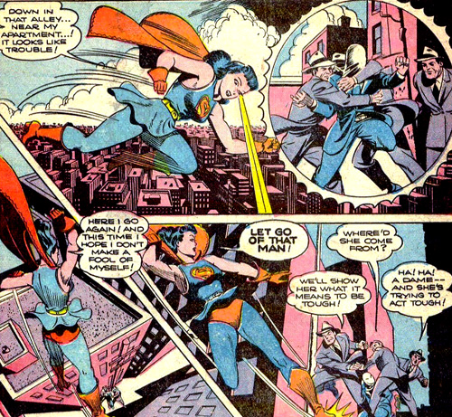Cette fois Superwoman tombe sur un vrai danger...