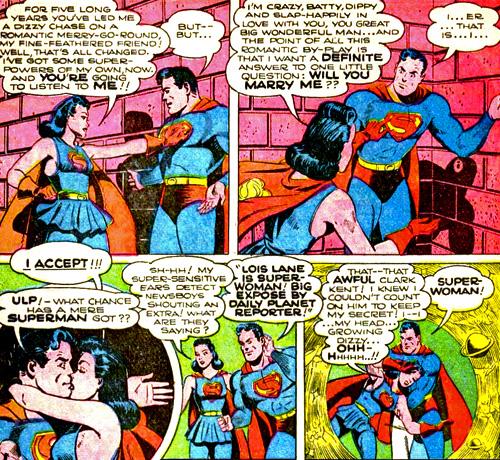 Superwoman fait du rentre-dedans à Superman...