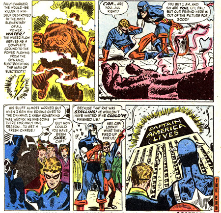 Captain America est vivant. Electro ? C'est moins sur...