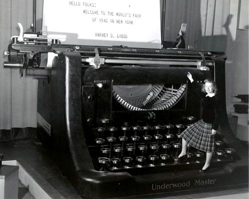 La vraie machine géante d'Underwood.