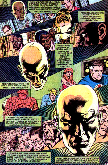 Charles Xavier profite de l'énergie mentale de l'humanite...