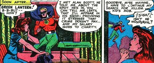 Molly rencontre Green Lantern.