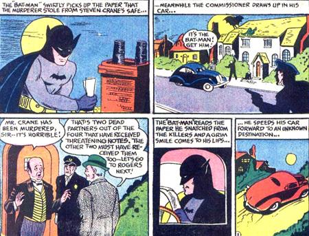 Batman dans sa pré-Batmobile