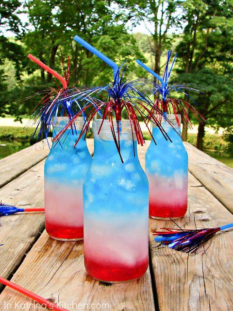 patriotic layered drink