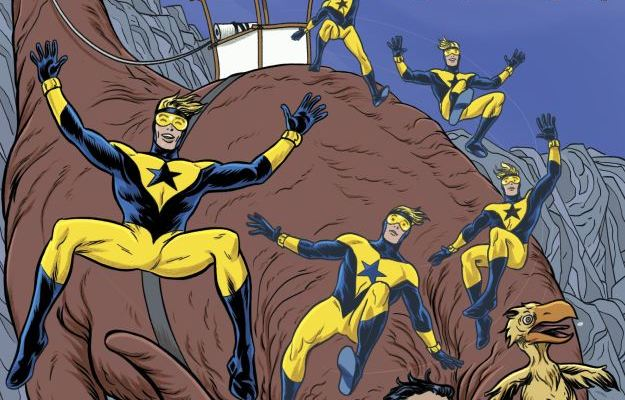 Booster Gold - The Flintstones Special - Mike Allred Cover