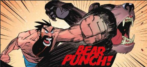 Shirtless Bear Fighter Issue 5 - Bear Punch with motion lines