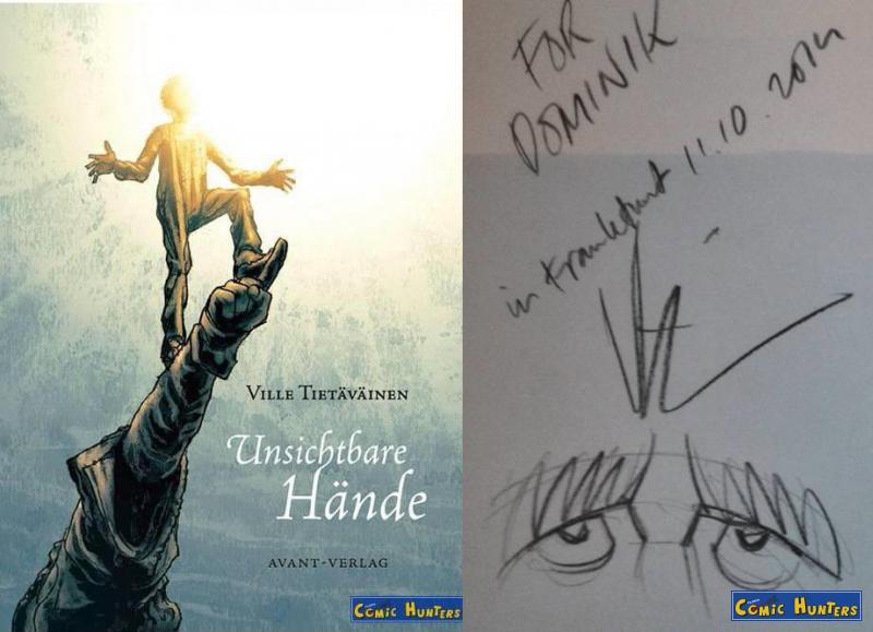 Signiert von Ville Tietäväinen auf der Frankfurter Buchmesse 2014