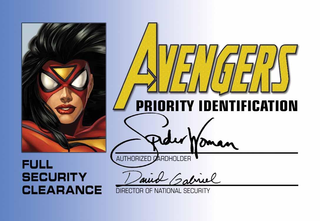 Avengers_ID_Card_Front ComicList: Marvel Comics for 12/30/2009
