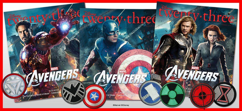 1334856892 Disney Twenty-Three magazine features collectible Avengers covers