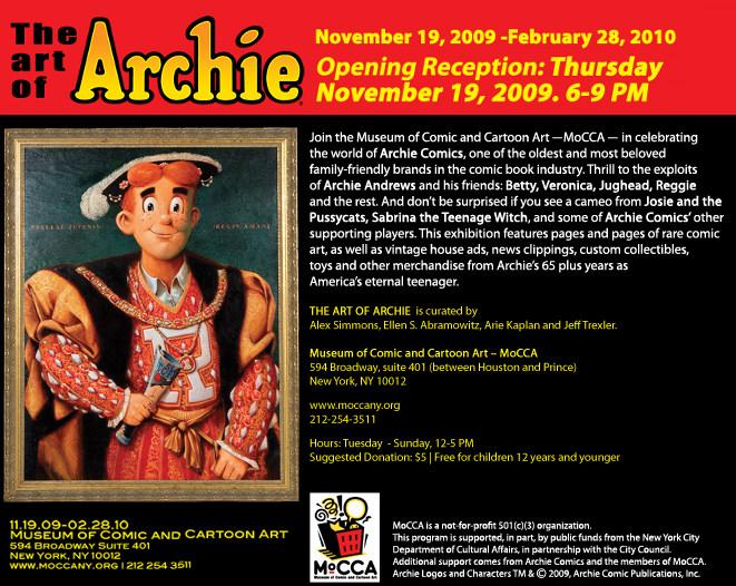20091016_mocca_postcard_sm The Art Of Archie @ MoCCA