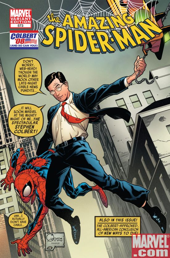 ASM_573_ColbertVariantCover Marvel Unveils Stephen Colbert Variant to Amazing Spider-Man #573