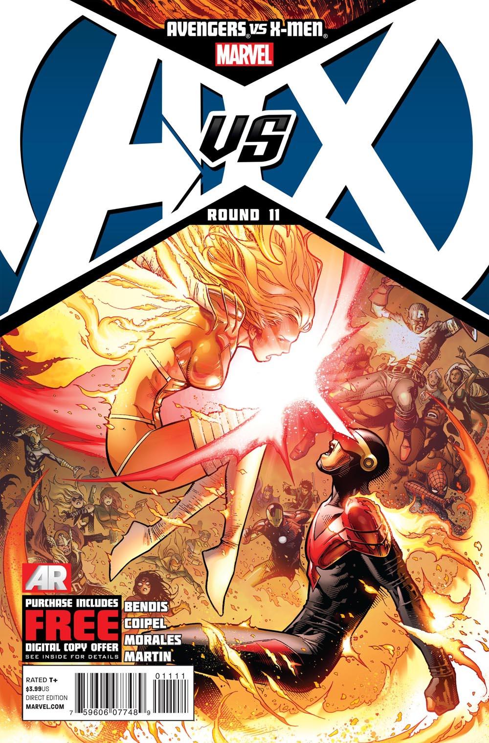 AVX_11_Cover Someone takes one for the team in AVENGERS VS. X-MEN #11
