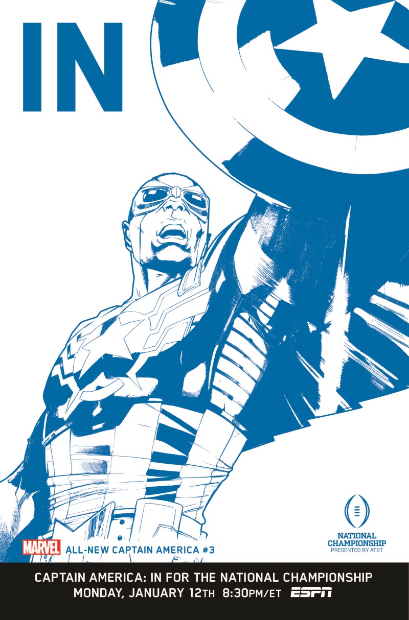 All-New_Captain_America_3_IN_Variant Marvel Comics and ESPN celebrate with IN variant covers