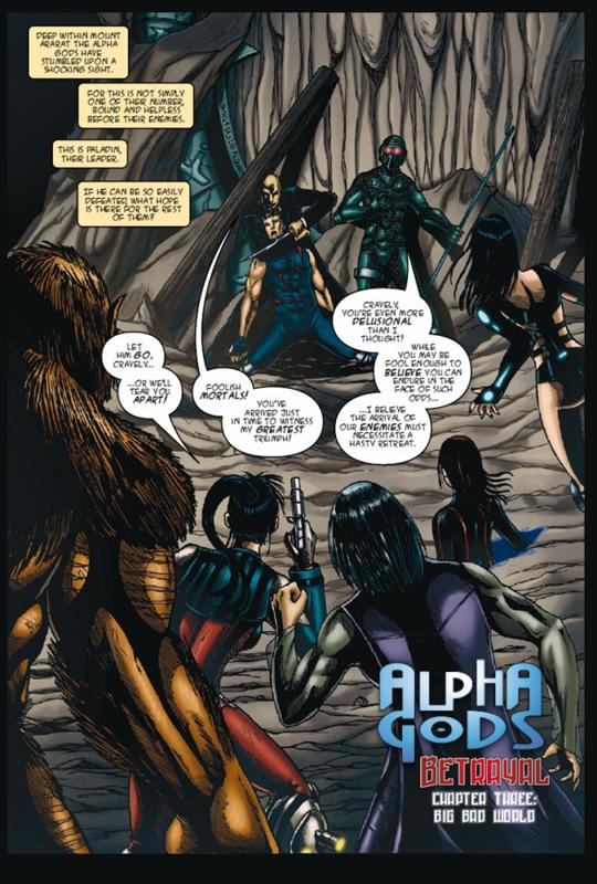 AlphaGodsBetrayal3pg2 ALPHA GODS:BETRAYAL #3 released by Orang Utan