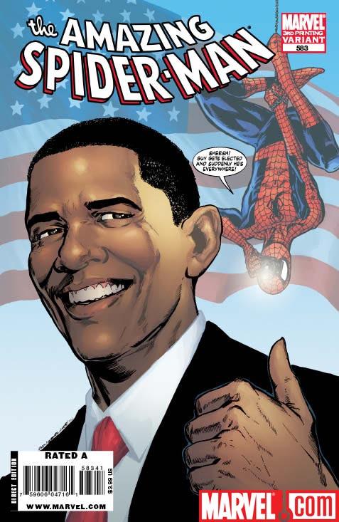 AmazingSpider-Man_583_ThirdPrintingVariant Amazing Spider-Man #583 Featuring Barack Obama Gets 3rd Printing