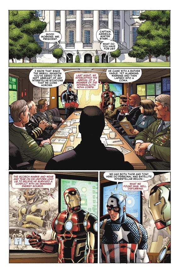 AvengersVSXMen_1_Preview1 First Look at AVENGERS VS. X-MEN #1