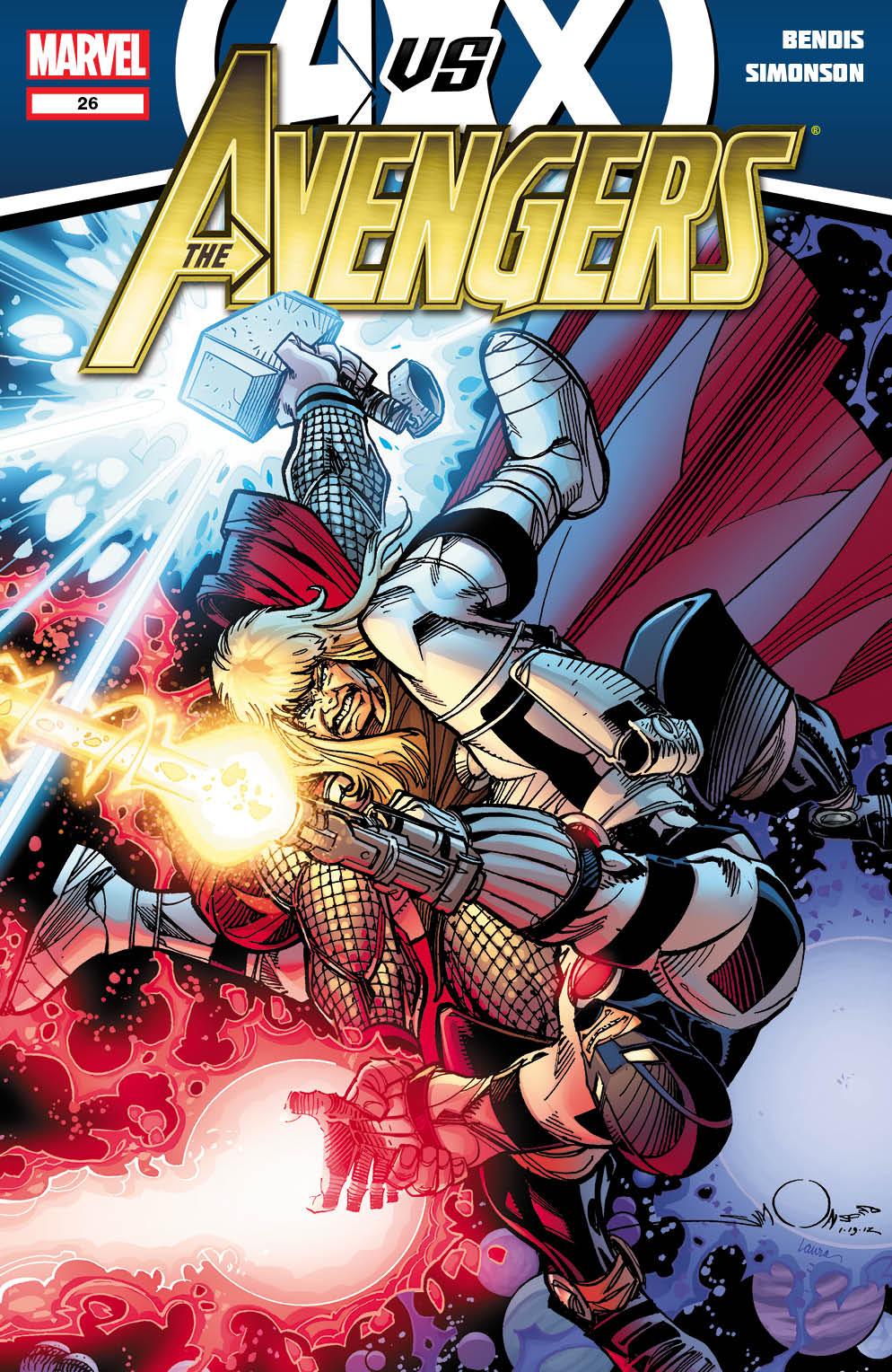 Avengers_26_Cover Marvel releases more May AVENGERS VS. X-MEN covers