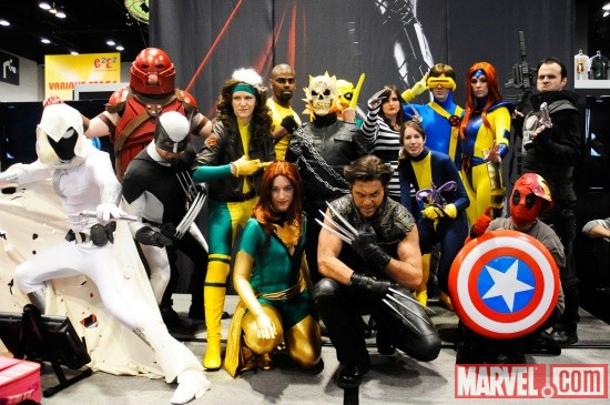 CostumeContest1 Marvel offer contest, costumes at WonderCon 2011 @ Booth 801