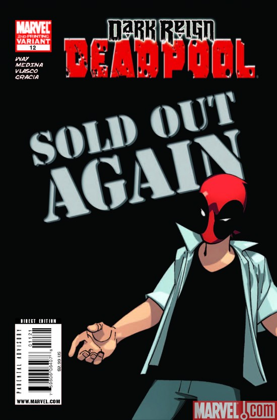 Deadpool_12_SecondPrintingVariant Deadpool Sells Out Again; #12 To Be Reprinted