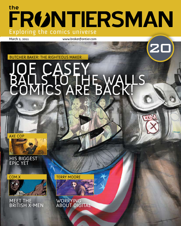FM20_previewcvr_large THE FRONTIERSMAN #20 features Joe Casey and 'Butcher Baker'