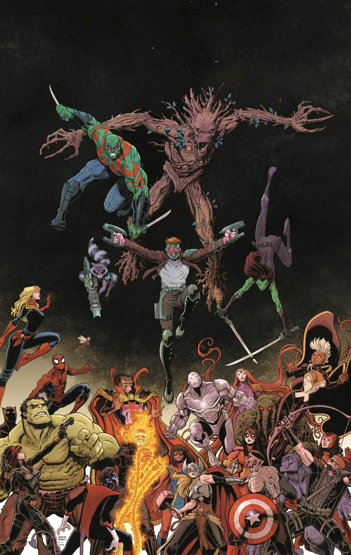 GuardiansTeam-Up1Cover The GUARDIANS TEAM-UP with the Marvel Universe