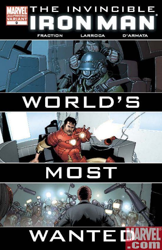InvincibleIronMan_09_SecondPrintingVariant DARK REIGN Brings Sells Outs For INVINCIBLE IRON MAN and WAR MACHINE