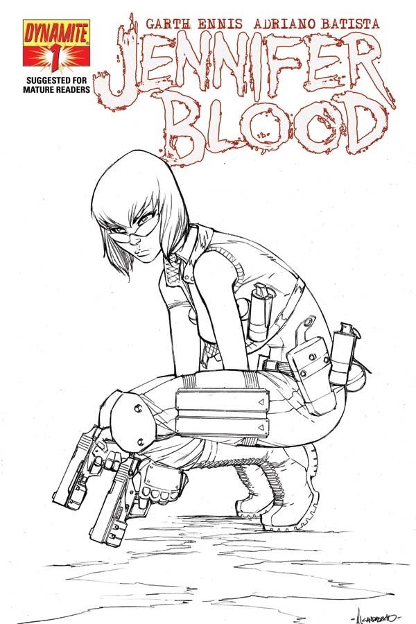 JenBlood01-Cov-Garza-BW Early look at Garth Ennis' JENNIFER BLOOD #1