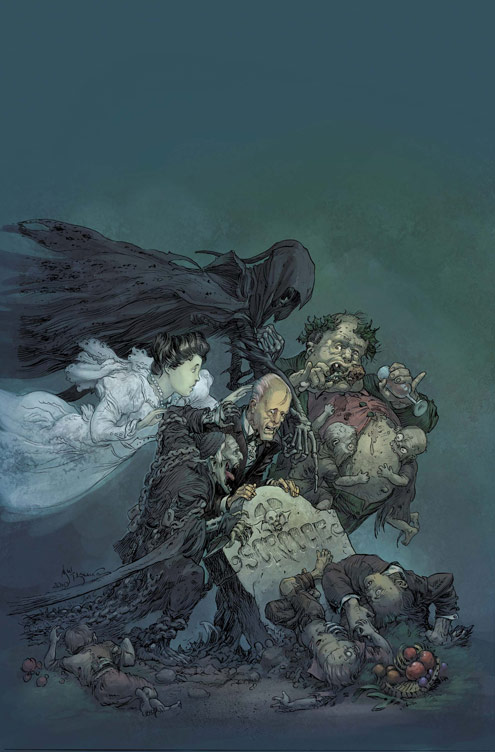 MARVELZOMBIESCHRISTMASCAROL_1_Cover Darkness is cheap and the MARVEL ZOMBIES CHRISTMAS CAROL likes it