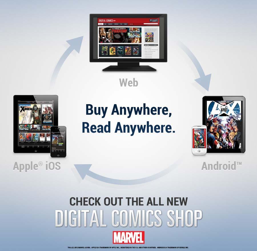 MarvelDigitalComicsStore Marvel launches same-day Digital Comics Shop