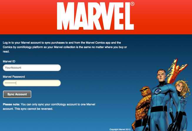 Marvel_Sync Digital comics purchases now sync Across ComiXology and Marvel accounts