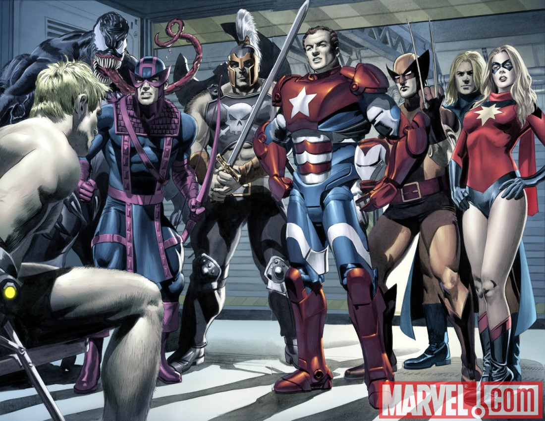 NewAvengers_Annual_03_Preview1 Can the New Avengers rescue Hawkeye from the Dark Avengers?