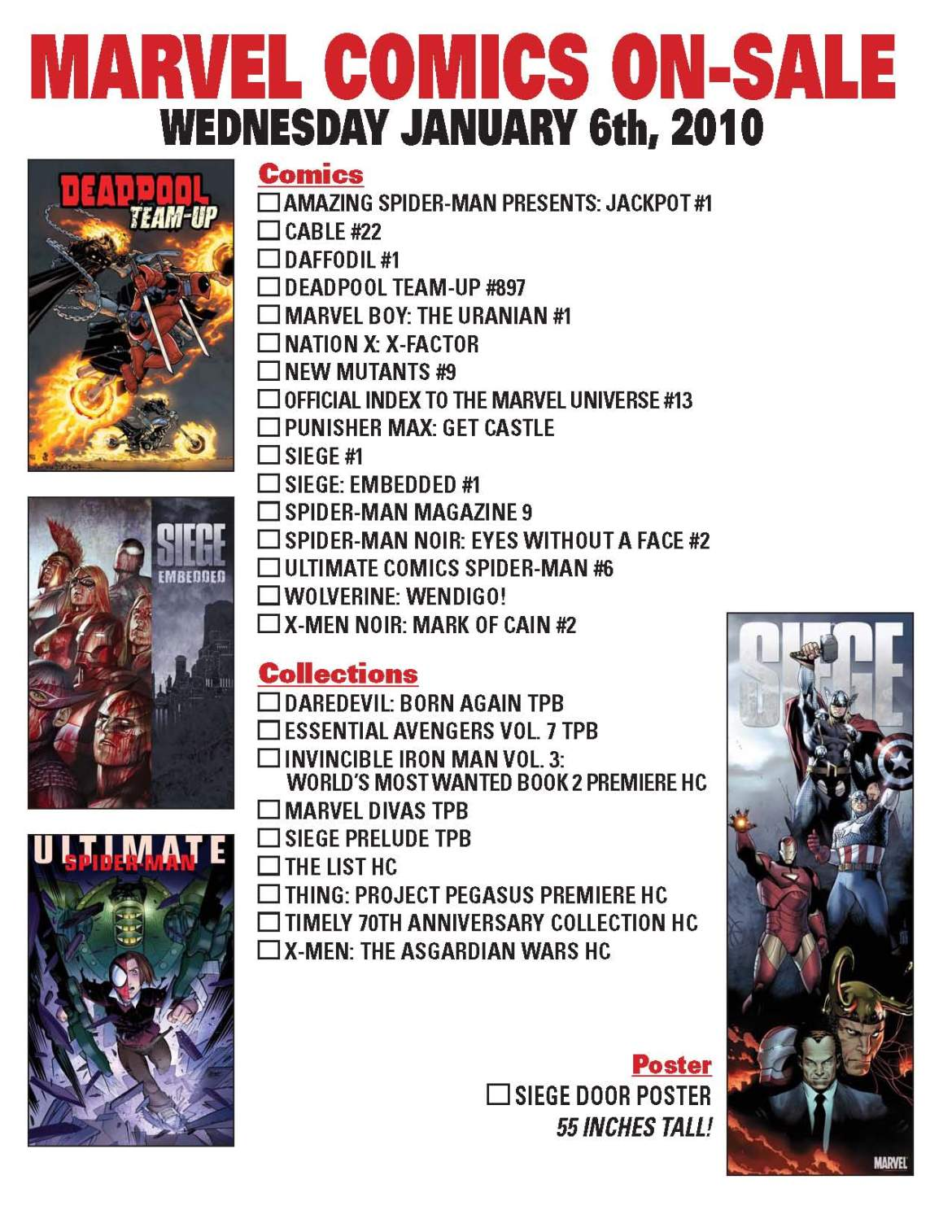 On-Sale-Checklistt Celebrate New Year's Eve Eve with Marvel today