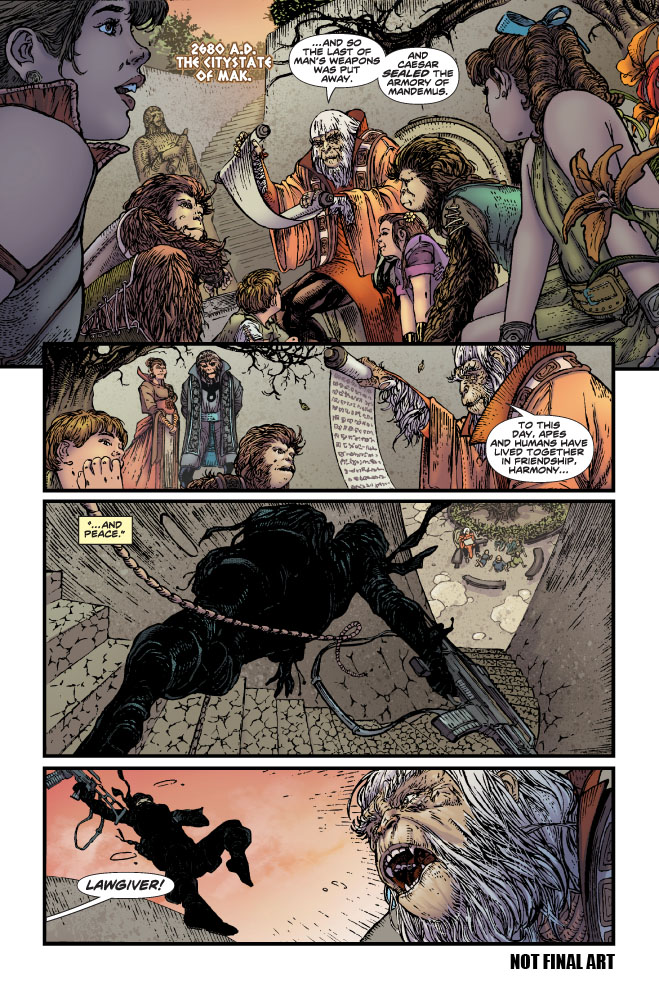 Planet_of_the_Apes_01_Preview_Page_01 First look at PLANET OF THE APES #1