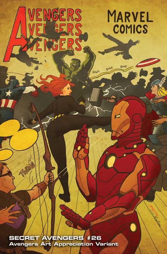 Secret-Avengers-26-AAA-JoeQuinones Marvel discloses Avengers Art Appreciation Variant Covers