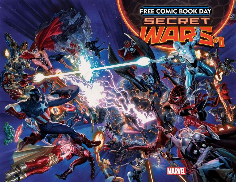Secret_Wars_0_Cover Marvel reveals SECRET and ALL-DIFFERENT FCBD 2015 titles