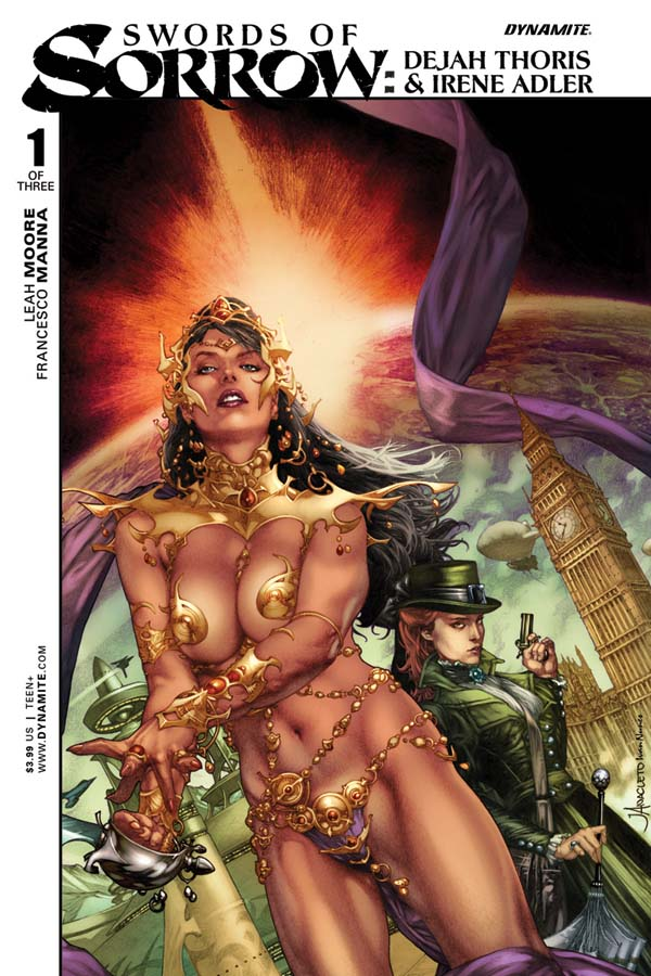 SoSDejahIrene01-Cov-A-Anacleto Red Sonja meets Jungle Girl in SWORDS OF SORROW crossover