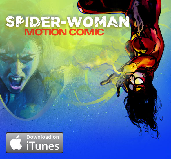 SpiderWoman_MotionComic_NowOniTunes Spider-Woman Motion Comic Is A Hit On iTunes