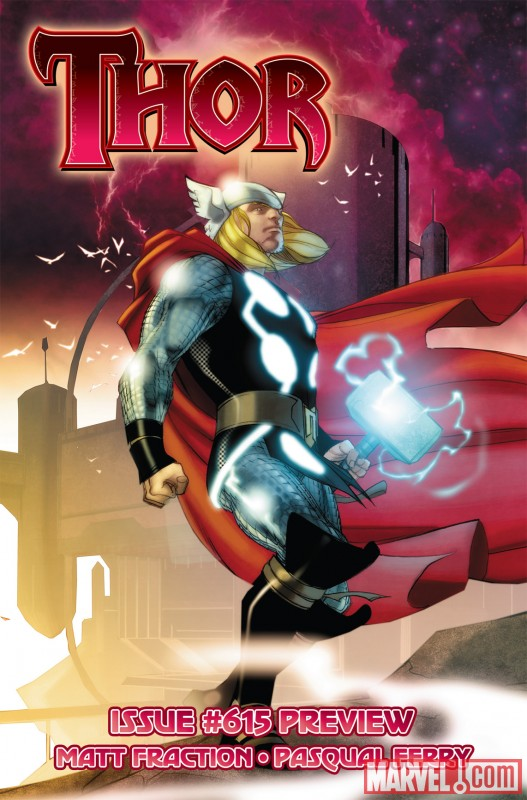THOR_615_COVER New Look at Matt Fraction and Pasqual Ferry's THOR debut