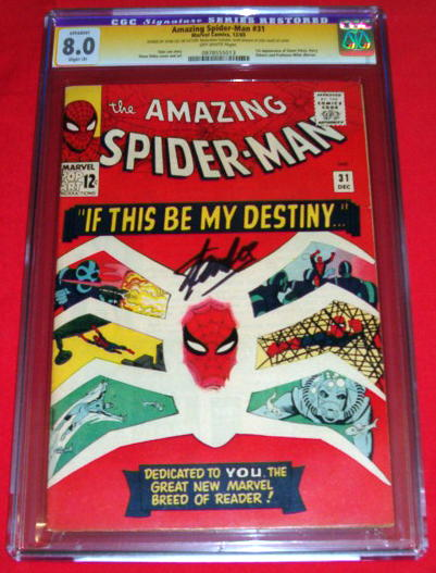 amazingspiderman_signed Stan Lee Autographed Collection Auction To Benefit Hero Initiative