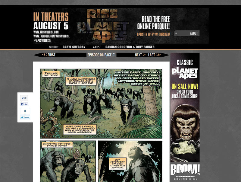 ape_prequel RISE OF THE PLANET OF THE APES prequel released digitally
