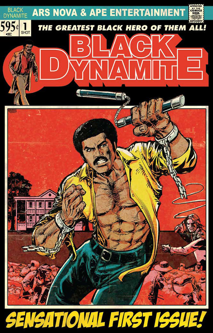 blackdynamite_1 Ape Entertainment presents BLACK DYNAMITE: SLAVE ISLAND