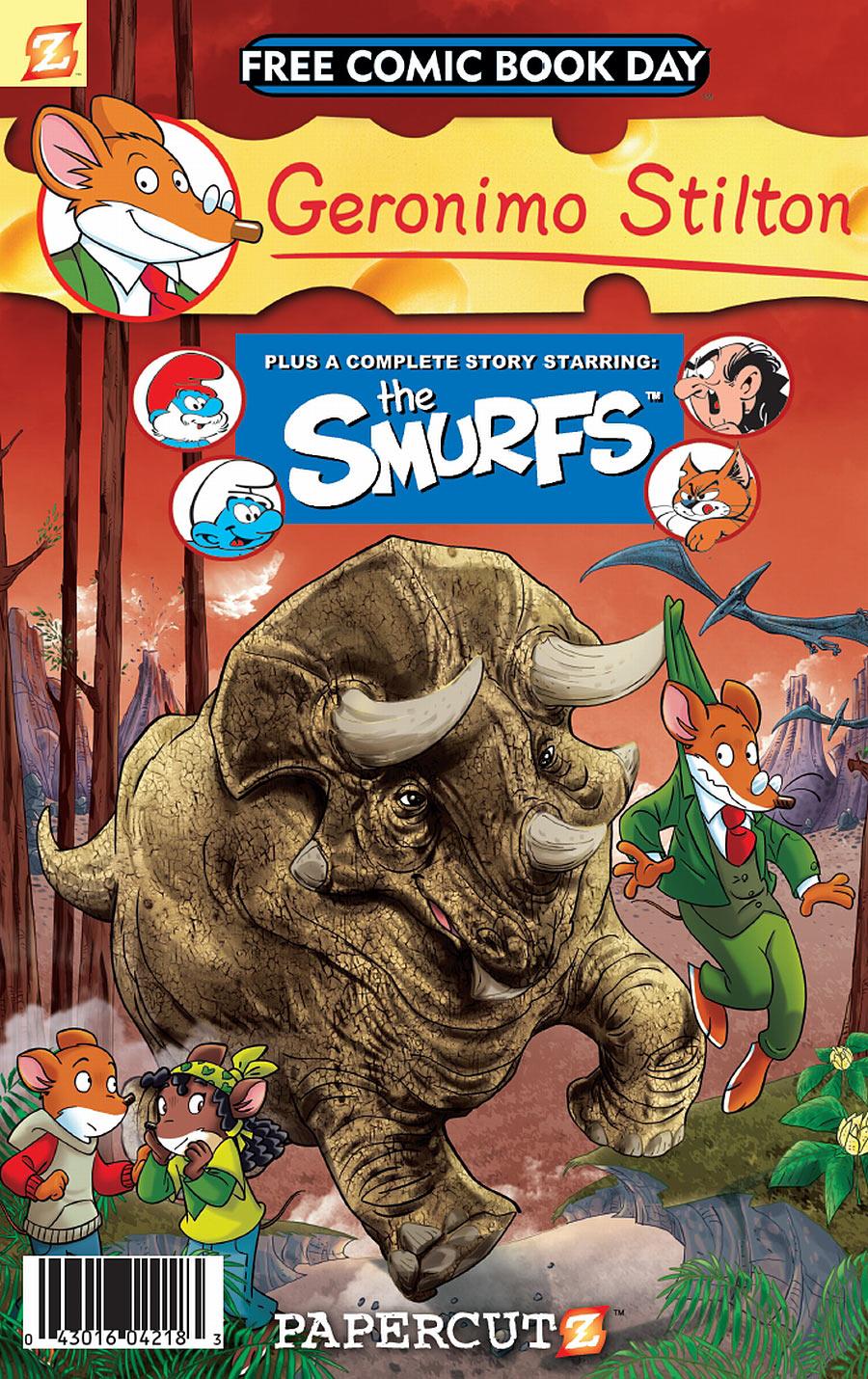 stilton_smurfs_fcbd Papercutz offers GERONIMO STILTON AND THE SMURFS for FCBD 2011