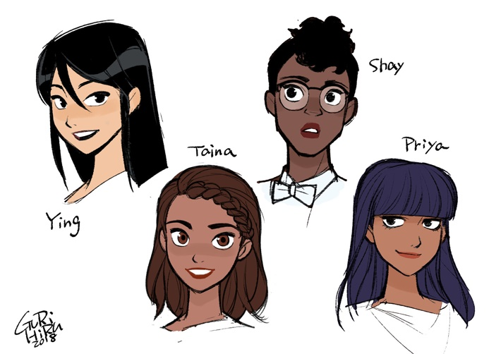 Agents_Of_GIRL_Gurihiru_Headshots THE UNSTOPPABLE WASP and the Agents Of G.I.R.L. return
