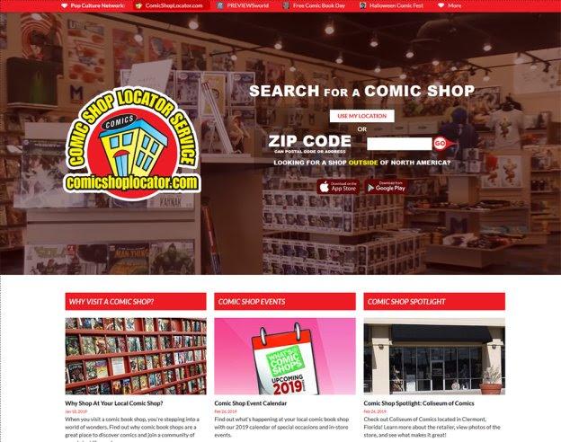 Comicshoplocator Comicshoplocator.com relaunches with new mobile-friendly design